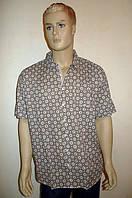 Рубашка Eskola (Турция) хлопок лен шелк с коротким рукавом