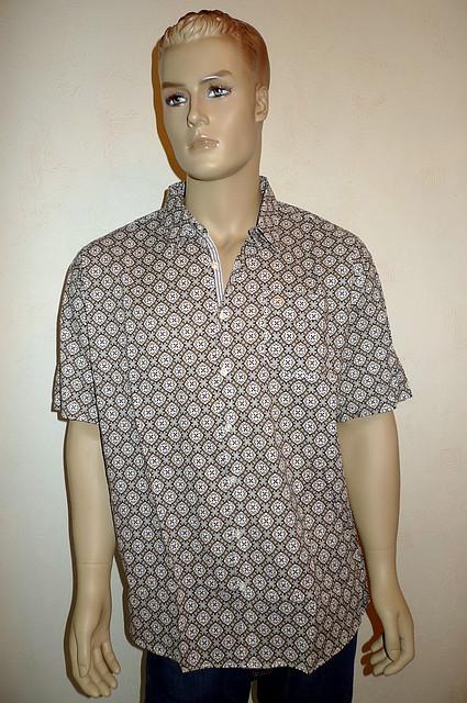 Рубашка Eskola хлопок лен шелк с коротким рукавом