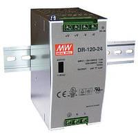 DR-120-24, DR-120-12, DR-120-48 - однофазные источники питания Mean Well (на DIN-рейку)