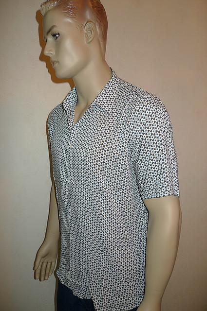 Модная мужская хлопковая рубашка