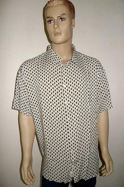 Летняя сорочка мужская большой размер