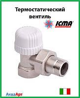 Icma Угловой термостатический вентиль с предварительной настройкой для железной трубы 1/2  Арт. 778