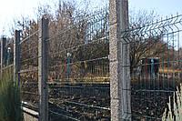 Сборный забор заполнение стальная 3d сетка