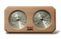 Термогигрометр для сауны из канадского кедра Sawo 221-THD
