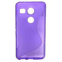Силіконовий чехол Duotone для LG Google Nexus 5X фіолетовий