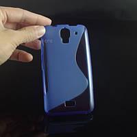 Силиконовый чехол Duotone для Huawei Ascend Y3c синий, фото 1
