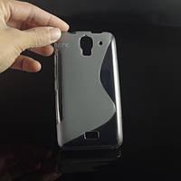 Силиконовый чехол Duotone для Huawei Ascend Y3c серый, фото 1