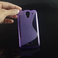 Силиконовый чехол Duotone для Huawei Ascend Y3c фиолетовый, фото 1