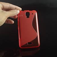 Силиконовый чехол Duotone для Huawei Ascend Y3c красный