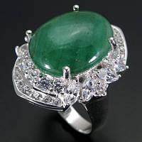Кольцо серебро 925 пробы изумруд 11,40 карат