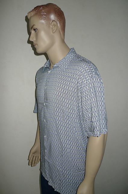Рубашка большого размера хлопок-бамбук
