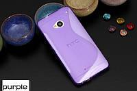 Силиконовый чехол Duotone для HTC One Dual Sim фиолетовый