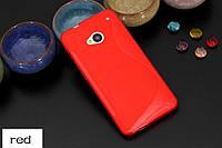 Силиконовый чехол Duotone для HTC One Dual Sim красный
