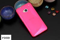 Силіконовий чехол Duotone для HTC One Dual Sim рожевий