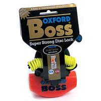 Замок на диск  механизм блокировки с корпусом из закаленной стали и напоминающим тросом Oxford Boss