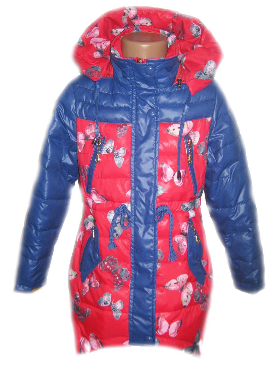 """Детская демисезонная куртка на девочку """"Бабочки"""""""