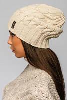 Бежевая шапка-чулок - 92087