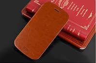 Кожаный чехол книжка MOFI для Huawei Ascend Y600-U20 DualSim коричневый