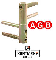 Дверная 4-х штыревая петля AGB D14