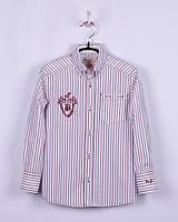 Рубашка для мальчика в красно-синию полоску, BOGI (Божи), фото 1