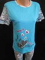 Хлопковые пижамы с бриджами., фото 1