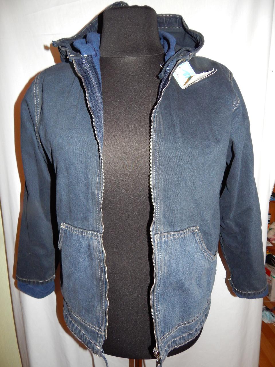 Куртка джинсовая тройка подросток