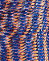 Шнур нейлоновый паракорд трехцветный Paracord blue red orange