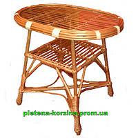 Стол из лозы с овальной столешницей Арт.698-ов