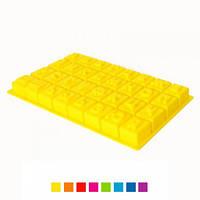 Форма для выпечки АЛФАВИТ силиконовая 32шт/лист 35,5*18*3см, HH-430