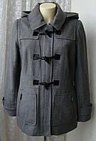 Пальто женское модное стильное с капюшоном демисезонное шерсть бренд APT.9 р.46 5475, фото 1