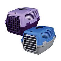 Пластиковая переноска для собак, кошек, мелких грызунов до 8кг/ синий/серый