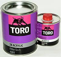 Грунт акриловый TORO 2K 5+1 4001 с отвердителем 0,9 л