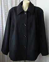 Пальто женское демисезонное элегантное шерсть большой размер бренд Croft&Barrow р.60 5500