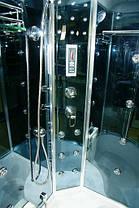 Гидромассажный бокс BADICO PREMIUM 4407-2P правосторонний 120х85х218 с глубоким поддоном, фото 3
