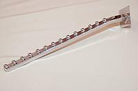 Кронштейн (Флейта) квадратная настенная с изгибом.