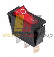 Переключатель узкий с подсвет. KCD-3, ON-OFF, 3pin, 16A, 220V, красный