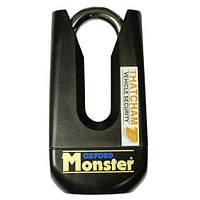 Надежный замок на диск двойной механизм блокировки Oxford Monster
