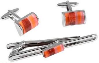 Элегантный набор заколка для галстука и запонки S.Quire EG-10346