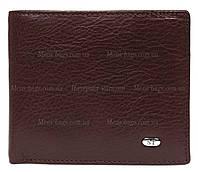 Мужской коричневый кожаный бумажник без застежки