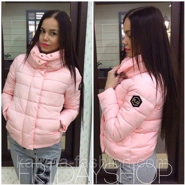 Куртка с высоким воротником, розовая женская куртка, китайская куртка оптом