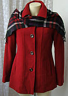 Пальто женское демисезонное элегантное шерсть бренд Croft&Barrow р.44 5502