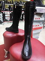 Сапоги кожаные демисезонные, слипоны OLLI, фото 3