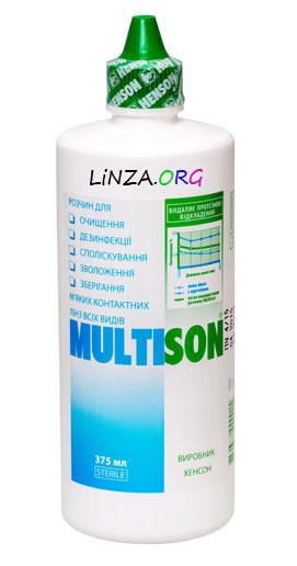 Раствор для контактных линз Multison 375ml ДОСТАВКА БЕСПЛАТНО