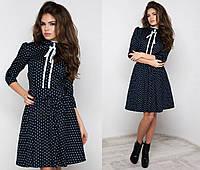 Платье молодёжное Горошек № 1028 (kux), фото 1