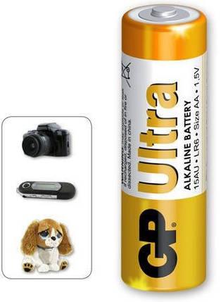 Батарейки GP 15AU-S2 Ultra Alkaline AA (LR6), фото 2