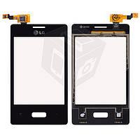 Touchscreen (сенсорный экран) для LG Optimus L3 E400, черный, оригинал