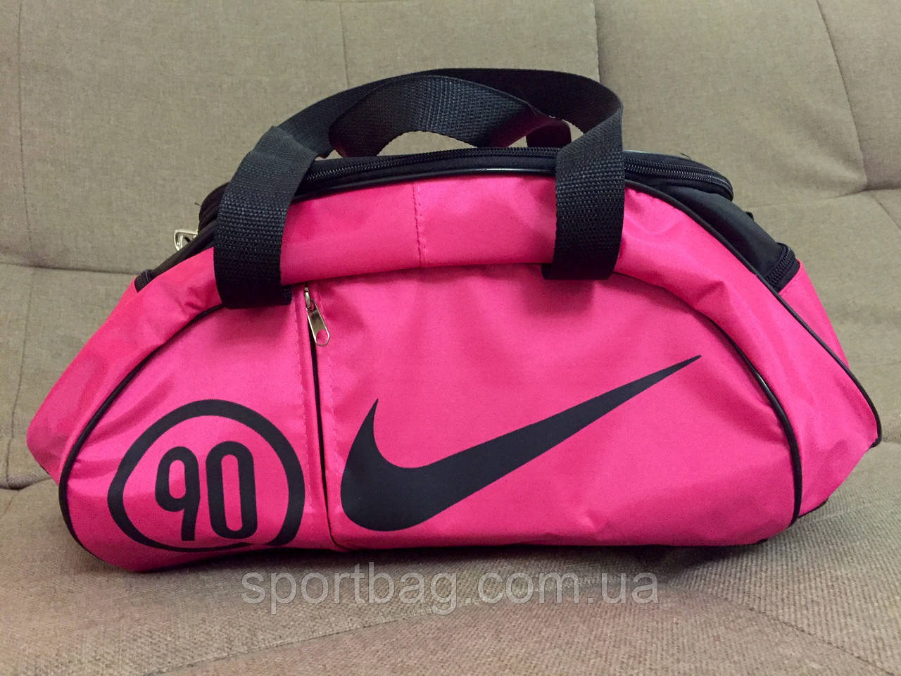 d5f9217c Сумка женская спортивная Nike (розовая + черный цвет) - Интернет-магазин  Sportbag.