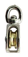 Блок одинарный никелированный 7 мм