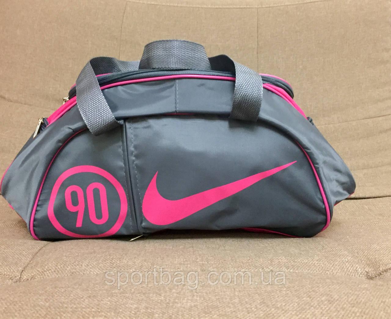 b8b5f89a Сумка женская спортивная Nike (серая + розовый): продажа, цена в ...