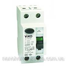 ПЗВ 2 полюси, 25A, 30mA, Viko Пристрій захисного відключення